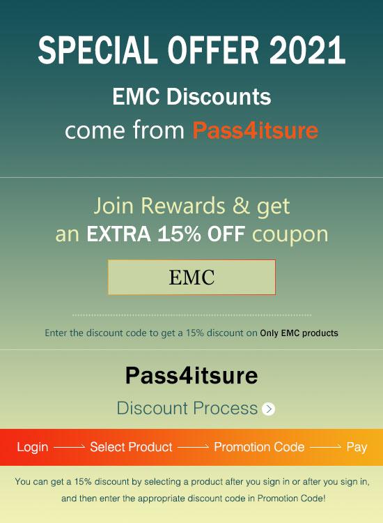 Pass4itsure EMC exam dumps coupons 2021